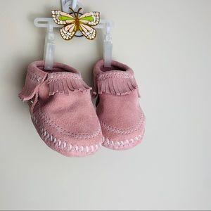 Pink MINNETONKA moccasins